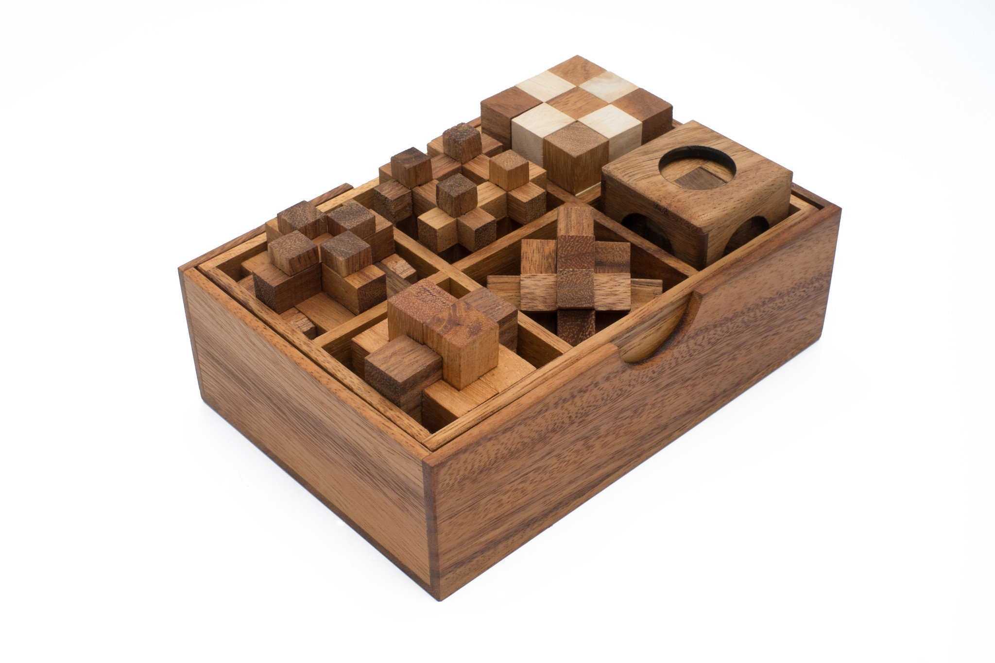6 Puzzles In Wooden Gift Box